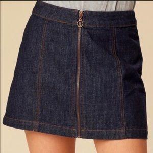 NWT Altar'd State Dark Wash Denim Skirt